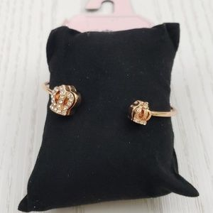 Juicy Couture Rose Gold Tone Open Bangle Bracelet